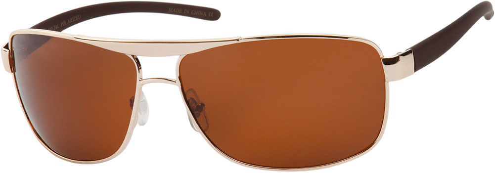 Ace #1299 Gold Frame with Brown Lenses Sunglasses
