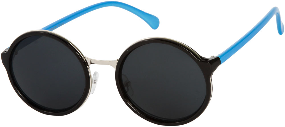 Sienna #5560 Black/Blue Frame Sunglasses