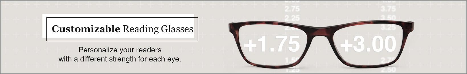 Customizable Reading Glasses