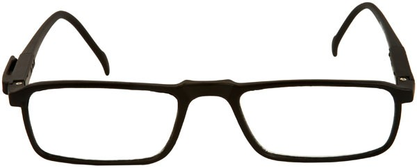 frame reading glasses with attached pocket clip