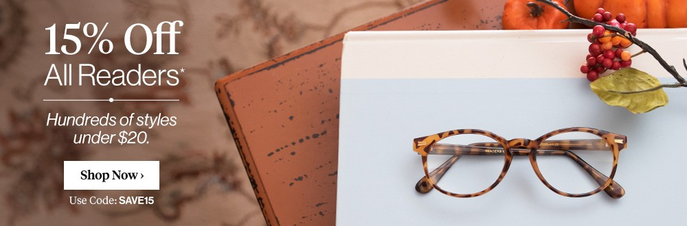 Reading Glasses - 15% OFF!